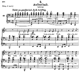 Aufenthalt D.957-5, Medium Voice in D Minor, F. Schubert (Schwanengesang) Pet. | eBooks | Sheet Music