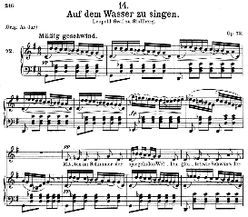 Auf dem wasser zu singen D.774, Medium Voice in G Major, F. Schubert, C.F. Peters | eBooks | Sheet Music