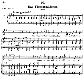 Das Fischermädchen D.957-10, Medium Voice in G Major, F. Schubert (Schwanengesang) Pet. | eBooks | Sheet Music
