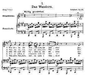 Das Wandern, D.795-1, Medium Voice in A Major, F. Schubert (Die Schöne Mullerin) Pet. | eBooks | Sheet Music