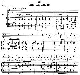Das Wirtshaus D.911-21 in F Major, Medium Voice.. F. Schubert (Winterreise), C.F. Peters | eBooks | Sheet Music