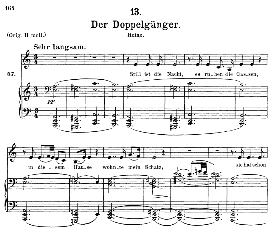 Der Doppelgânger, D.957-13, Medium Voice in A Minor, F. Schubert (Schwanengesang), C.F. Peters | eBooks | Sheet Music