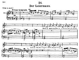 Der Leiermann D.911-24, Medium Voice in G Minor, F. Schubert (Winterreise) Pet. | eBooks | Sheet Music