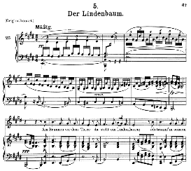 Der Lindenbaum D.911-5, Medium Voice in E Major, F. Schubert (Winterreise).Pet. | eBooks | Sheet Music
