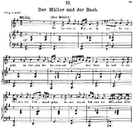 Der Müller und der Bach, D.795-19, Medium Voice in E Minor, F. Schubert (Die Schöne Mullerin) Pet. | eBooks | Sheet Music