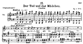 Der Tod und das Mädchen D.774 in D Minor, Medium Voice. F. Schubert. | eBooks | Sheet Music