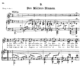 Des Müller's Blumen D.795-9, Medium Voice in G Major, F. Schubert (Die Schöne Mullerin) Pet. | eBooks | Sheet Music