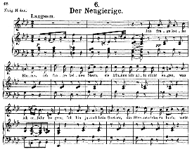 Der Neugierige, D.795-6, Medium Voice in A Flat Major, F. Schubert (Die Schöne Mullerin) Pet. | eBooks | Sheet Music
