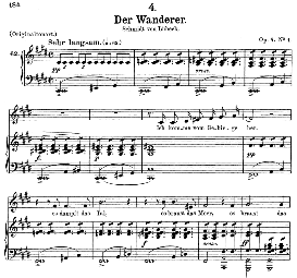 Der Wanderer D.493, Medium Voice in C Sharp Minor. F. Schubert (Pet.) | eBooks | Sheet Music