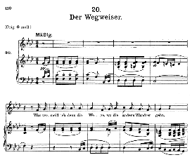 Der Wegweiser D.911-20 in F Minor, Medium Voice. F. Schubert (Winterreise). | eBooks | Sheet Music
