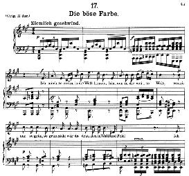 die böse farbe d.795-1 in a major, medium voice. f. schubert (die schöne mullerin) pet.