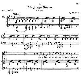 die junge nonne d.828, medium voice in e minor, f. schubert (pet.)