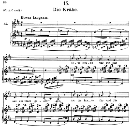 Die Krähe D.911-15, Medium Voice in B Minor, F. Schubert (Winterreise) Pet. | eBooks | Sheet Music