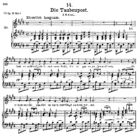 Die Taubenpost, D.957-14, Medium Voice in E Major, F. Schubert (Schwanengesang) Pet. | eBooks | Sheet Music