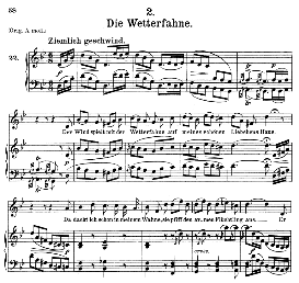 Die Wetterfahne D.911-2, Medium Voice in G Minor, F. Schubert (Winterreise) Pet. | eBooks | Sheet Music