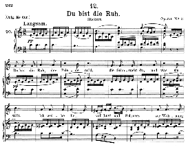 Du bist die Ruh D.776, Medium Voice in C Major, F. Schubert (Pet.) | eBooks | Sheet Music