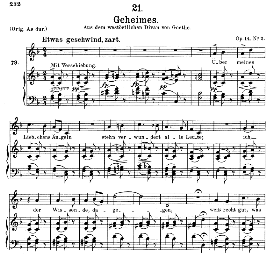 Geheimes D.719, Medium Voice in F Major, F. Schubert (Pet.) | eBooks | Sheet Music