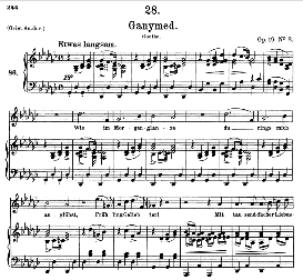 Ganymed D.544, Medium Voice in G Flat Major, F. Schubert (Pet.) | eBooks | Sheet Music