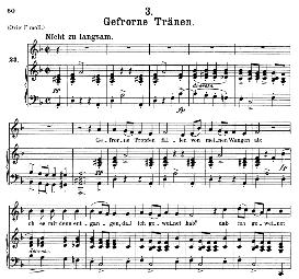 Gefrorne Tränen D.911-3, Medium Voice in D Minor, F. Schubert (Winterreise) Pet. | Crafting | Cross-Stitch | Other
