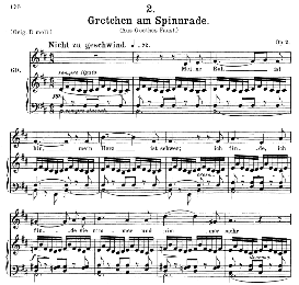 gretchen am spinnrade d.118, medium voice in b minor, f. schubert (pet.)