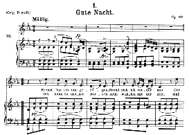 Gute Nacht D.911-1, Medium Voice in C Minor, F. Schubert (Winterreise) Pet. | eBooks | Sheet Music