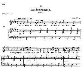 Heidenröslein D.257, Medium Voice in E Major, F. Schubert (Pet.) | eBooks | Sheet Music