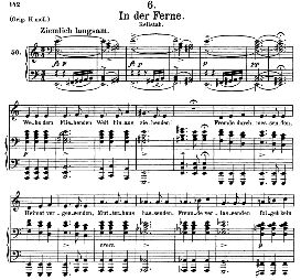in der ferne d.957-6, medium voice in a minor, f. schubert (schwanengesang) pet.