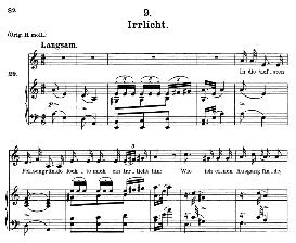 Irrlicht D.911-9, Medium Voice in A Minor, F. Schubert (Winterreise) Pet. | eBooks | Sheet Music