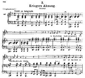 Kriegers Ahnung, D.957-2, Medium Voice in C Minor, F. Schubert (Schwanengesang) Pet. | eBooks | Sheet Music