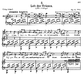 Lob der Tränen D.711, Medium Voice in C Major, Schubert (Pet.) | eBooks | Sheet Music
