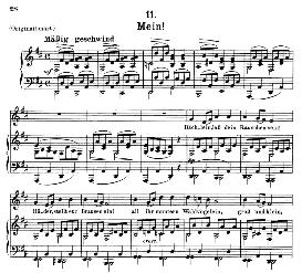 Mein! D.795-11, Medium Voice in D Major, F. Schubert (Die Schöne Mullerin) Pet. | eBooks | Sheet Music