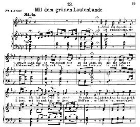 Mit dem grünen lautenbande D.795-13, Medium Voice in A Flat Major, F. Schubert (Die Schöne Mullerin) Pet. | eBooks | Sheet Music