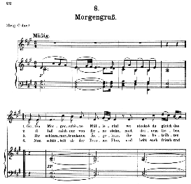 Morgengruss D.795-8, Medium Voice in A Major, F. Schubert (Die Schöne Mullerin) Pet. | eBooks | Sheet Music