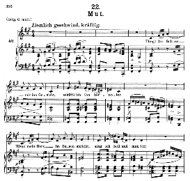 Mut D.911-22, Medium Voice in F Sharp Minor, F. Schubert (Winterreise) Pet. | eBooks | Sheet Music
