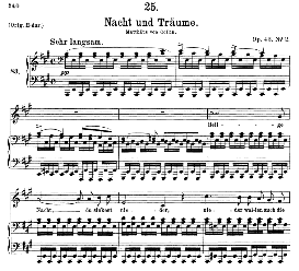 Nacht und Träume D.827, Medium Voice in A Major, F. Schubert (Pet.) | eBooks | Sheet Music
