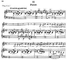 Pause D.795-12, Medium Voice in A Flat Major, F. Schubert (Die Schöne Mullerin) C.F. Peters | eBooks | Sheet Music