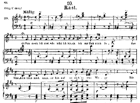 Rast D.911-10, Medium Voice in B Minor, F. Schubert (Winterreise) Pet. | eBooks | Sheet Music