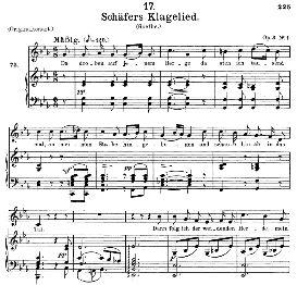Schäfers Klagelied D.121, Medium Voice in C Minor, F. Schubert. (Pet.) | eBooks | Sheet Music