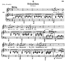 Stândchen, D.957-4, Leise flehen meine lieder, Medium Voice in C Minor, F. Schubert (Schwanengesang). Pet. | eBooks | Sheet Music