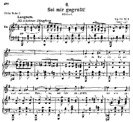 Sei mir gegrüsst! D.741, Medium Voice in G Major, F. Schubert, C.F. Peters | eBooks | Sheet Music