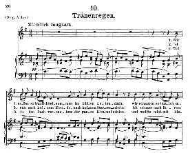 Tränenregen D.795-10, Medium Voice in G Major, F. Schubert (Die Schöne Mullerin) Pet; | eBooks | Sheet Music