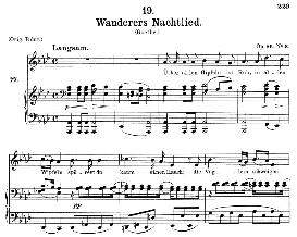 Wanderers Nachtlied D.768 Uber allen Gipfeln ist Ruh , Medium Voice in A Flat Major, F. Schubert (Pet.) | eBooks | Sheet Music
