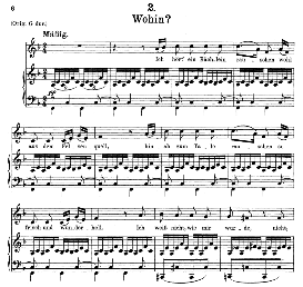 Wohin D.795-2, Medium Voice in F Major, F. Schubert (Die Schöne Mullerin) Pet. | eBooks | Sheet Music