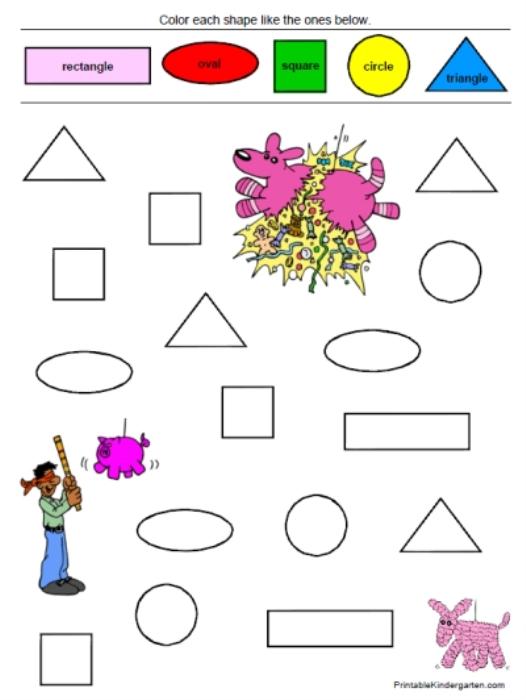 Color Words Worksheets For Kindergarten : All worksheets color for preschoolers