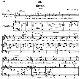 An Emma D.193, Medium Voice in D Major, F. Schubert, Pet. | eBooks | Sheet Music