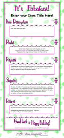 It's Fabulous Ebay Template by SCTRADEKAT | Other Files | Patterns and Templates