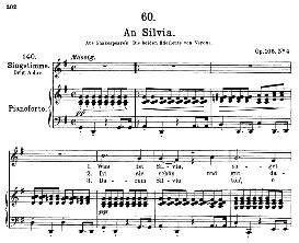 an silvia d.891, medium voice in g major, f. schubert, pet.