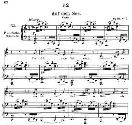 Auf dem See D.543, Medium Voice in C Major, F. Schubert, Pet. | eBooks | Sheet Music