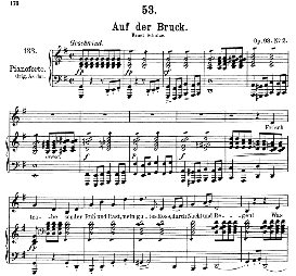 Auf der Brück D.833, Medium Voice in G Major, F. Schubert, C.F. Peters | eBooks | Sheet Music
