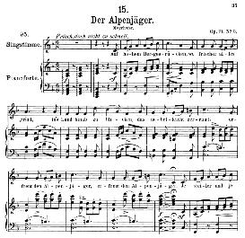 Der Alpenjäger D.524, Medium Voice in F Major, F. Schubert, (Pet.) | eBooks | Sheet Music
